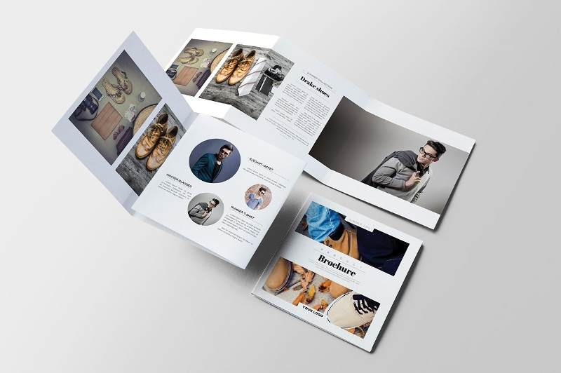 product square brochure design