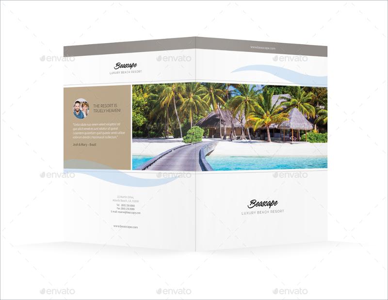 professional beach resort bifold brochure