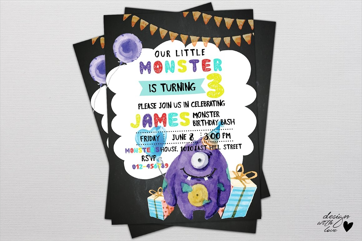 16+ Monster Birthday Invitation Designs and Examples – PSD, AI