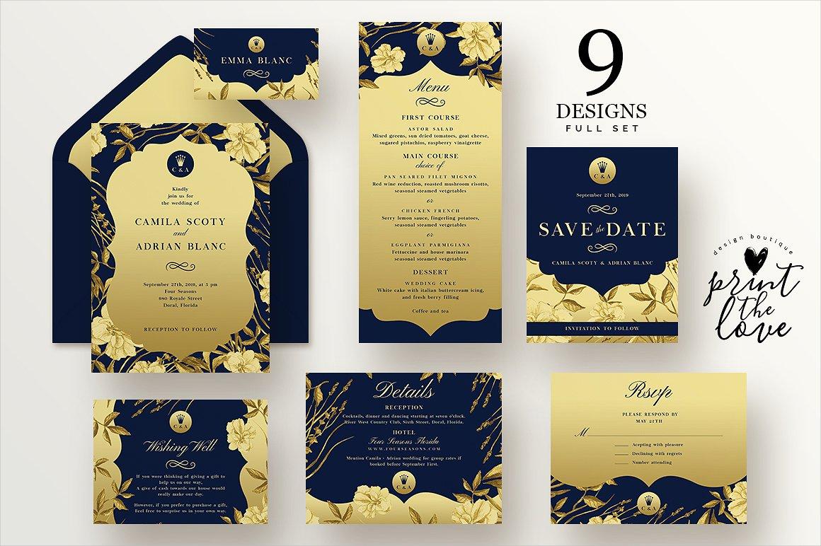 queen wedding invitation