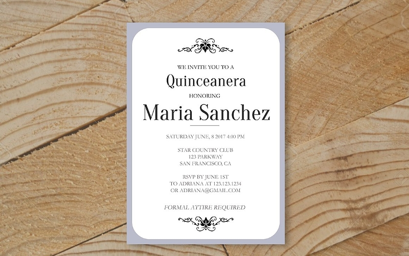 quinceanera party invitation