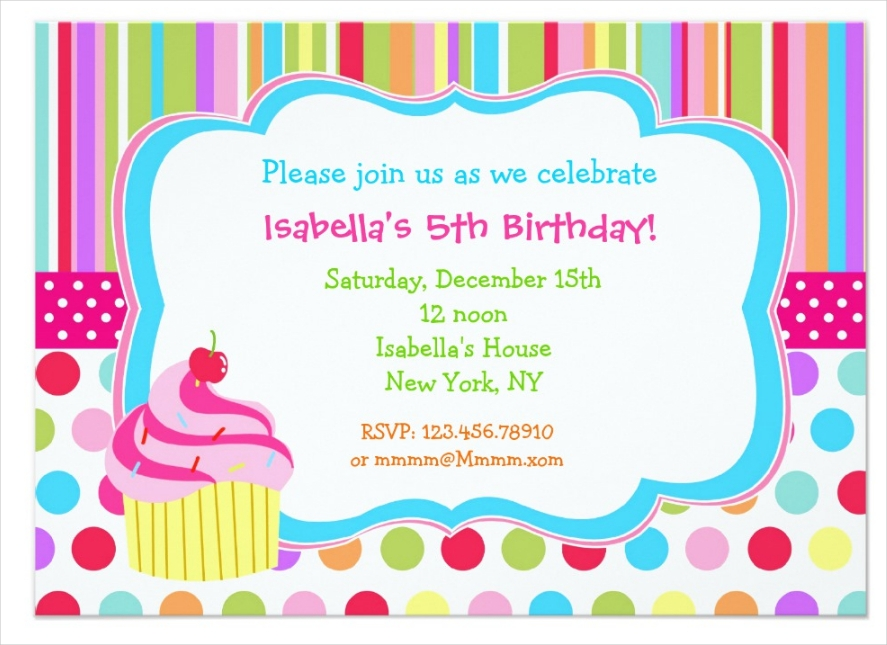 15 cupcake party invitation designs and examples psd ai rainbow cupcake birthday party invitation filmwisefo