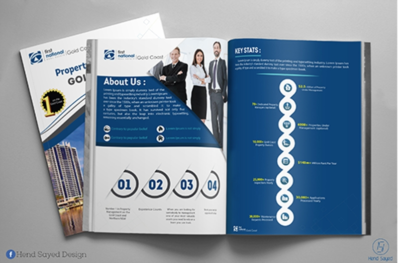 real estate agency brochure design 1