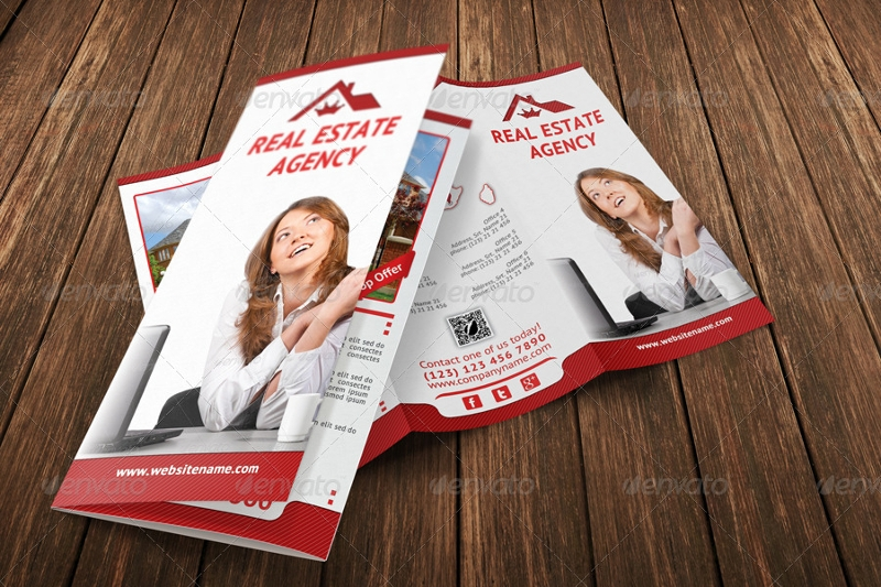 real estate agency tri fold brochure