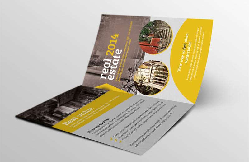 real estate bi fold brochure design