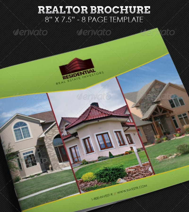 realtor brochure square template
