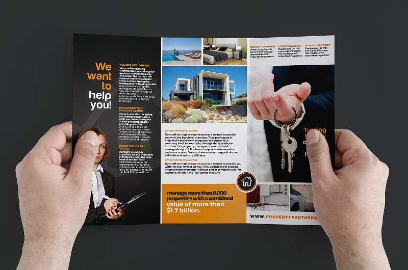 realtor real estate agent trifold template