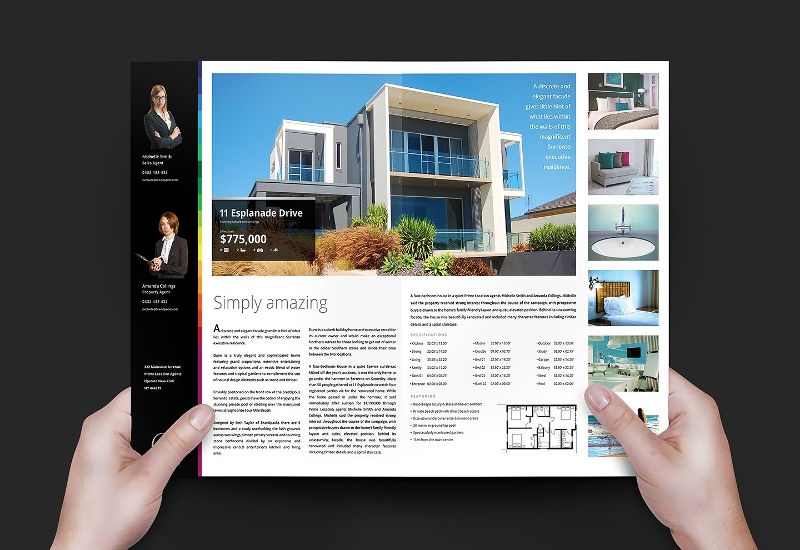realtor real estate brochure template