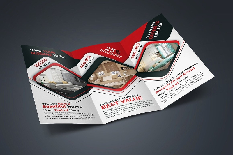 realtor real estate trifold brochure