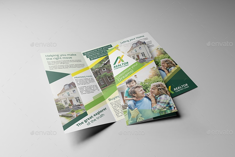 Realtor Brochure Designs Examples PSD AI EPS Vector - Realtor brochure template