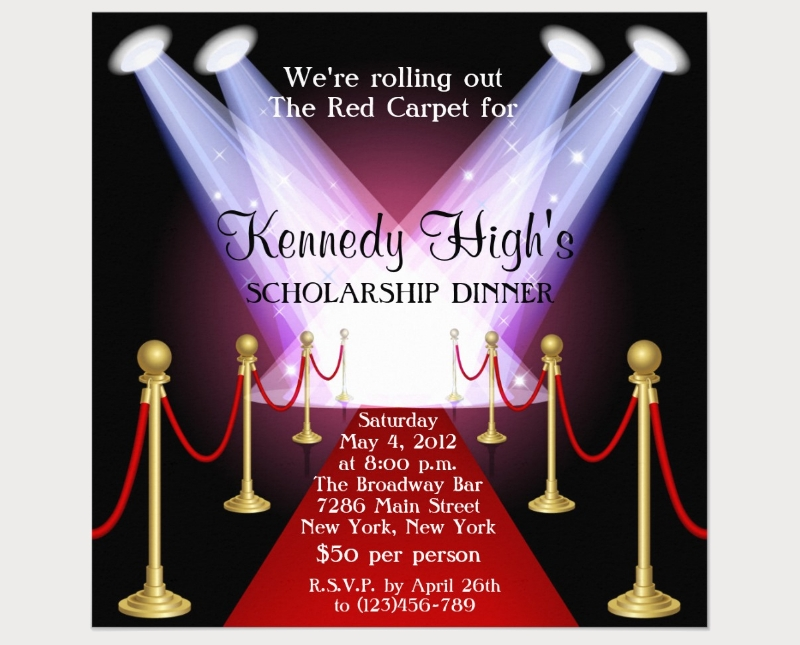 red carpet fundraiser invitation
