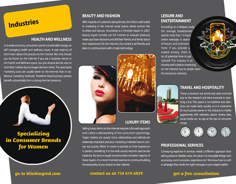 red consultancy brochure