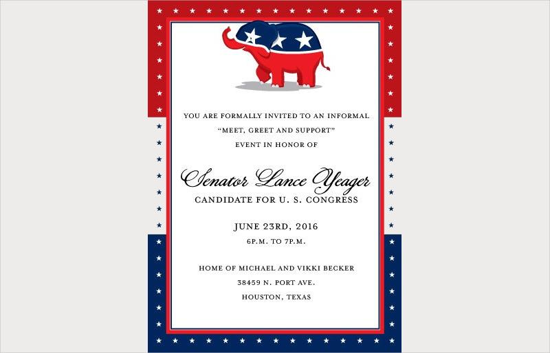 republican party fundraising invitation