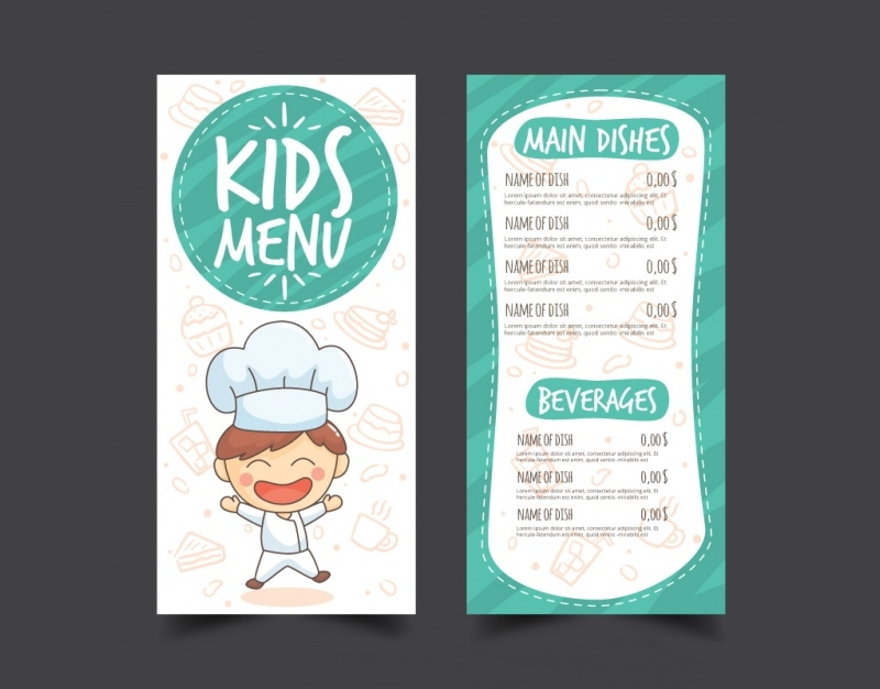 restaurant kids menu