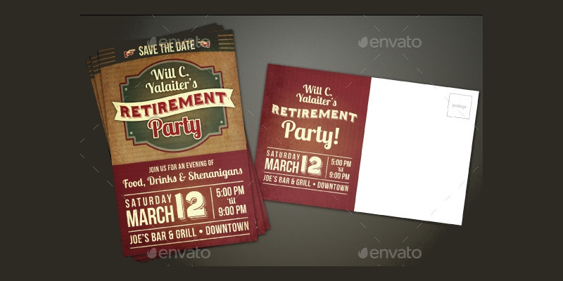 retirement party event invitation