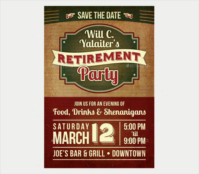 retirement party postcard invitation1