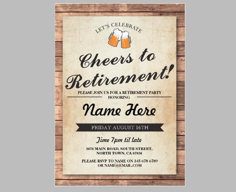 retirement partypub invitation