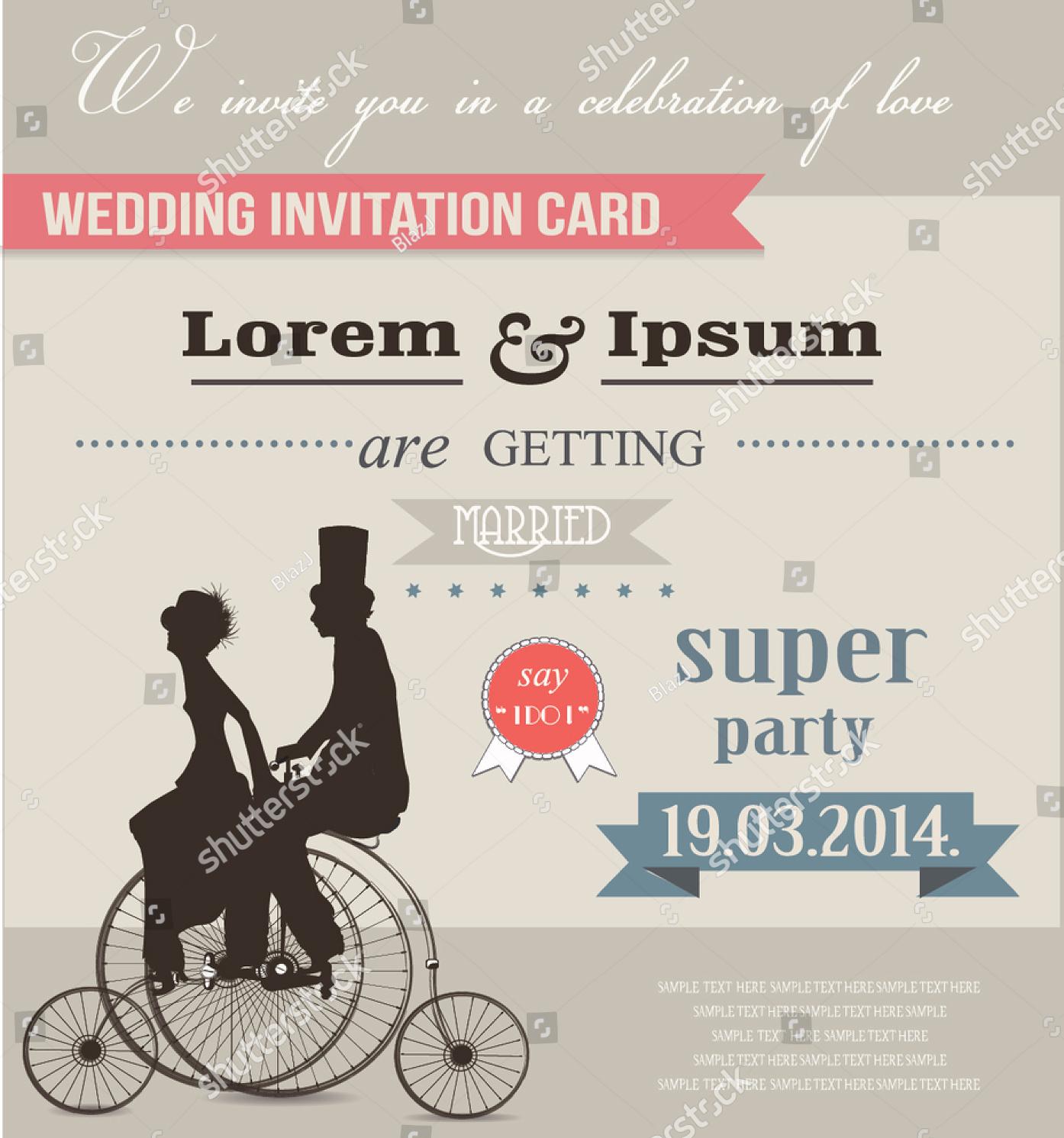retro adult party invitation