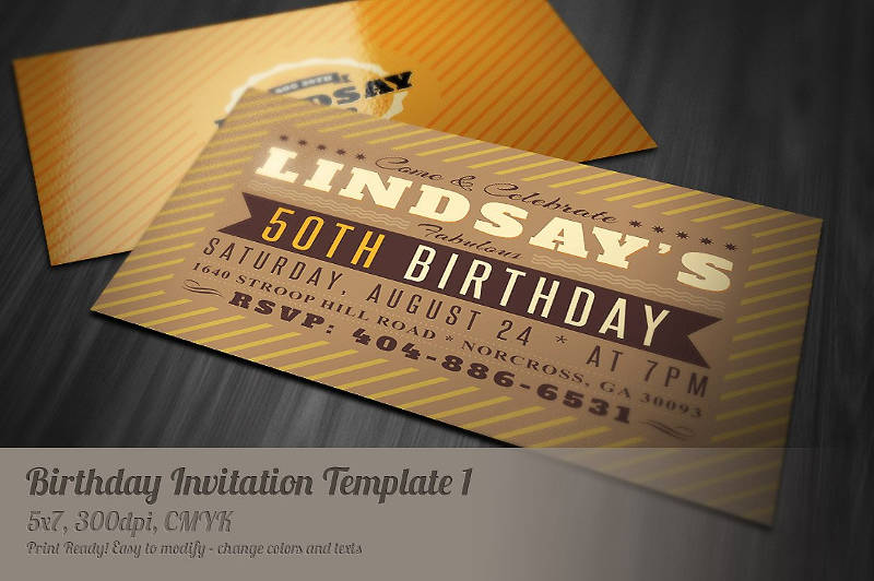 retro birthday invitation1