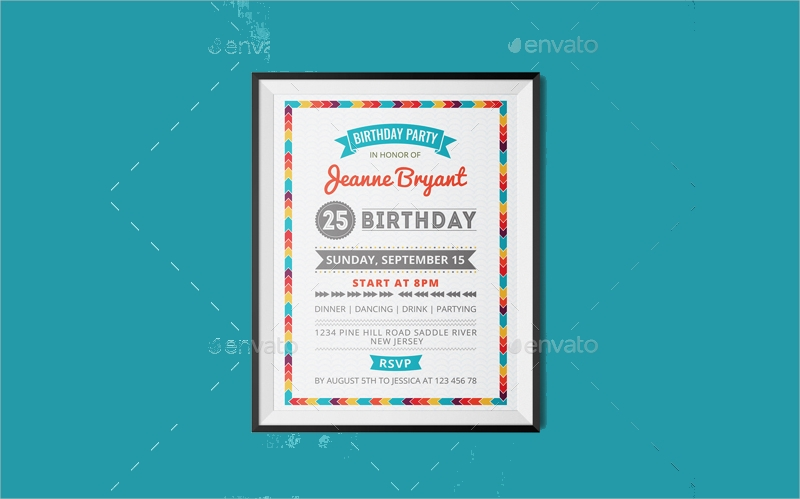 retro birthday invitations bundle