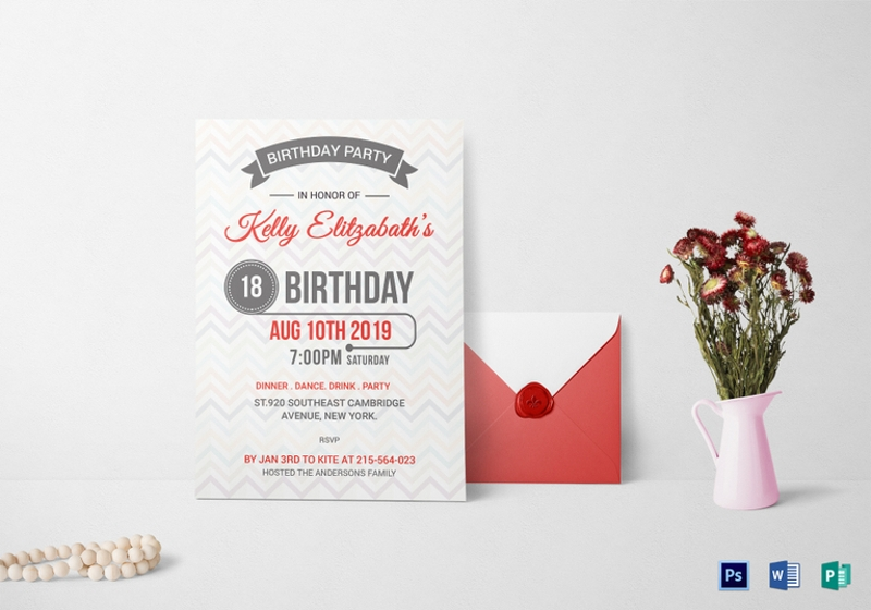Free 14 Retro Birthday Invitation Designs Examples In Psd