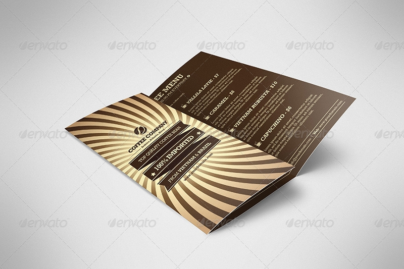 retro coffee brochure tri fold