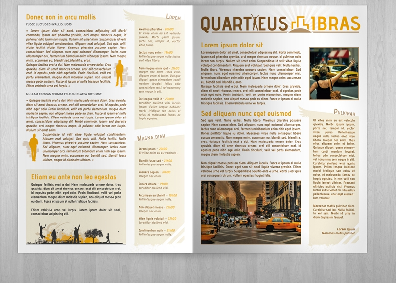 retro style brochure
