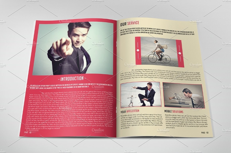 retro style brochure design