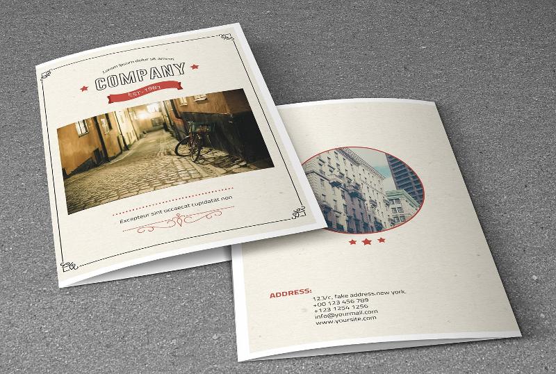 retro style corporate brochure