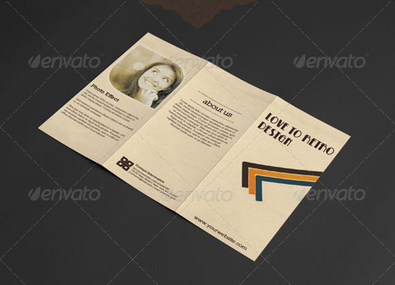 retro trifold brochure