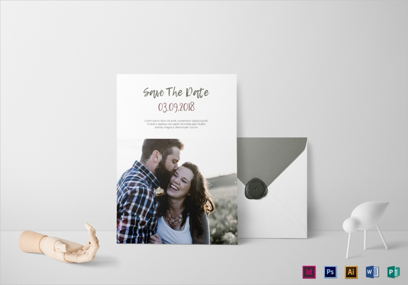 rich photo wedding invitation template