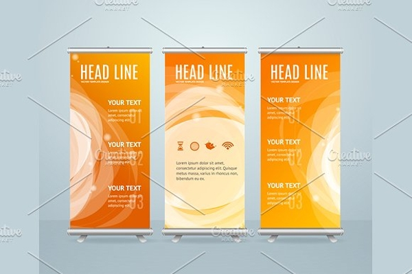roll up vertical banner stand design