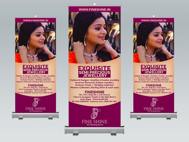 rollup banner for jewelry shop