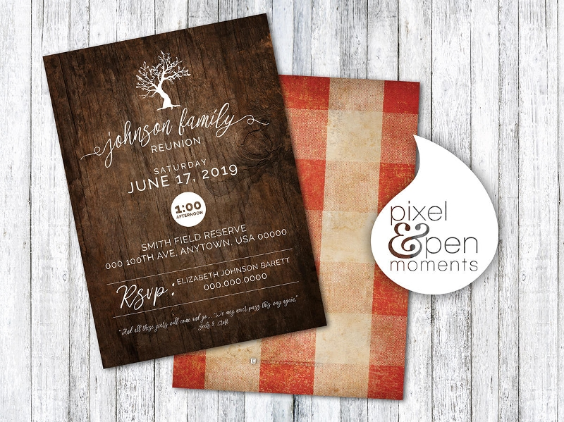 roots family reunion invitation