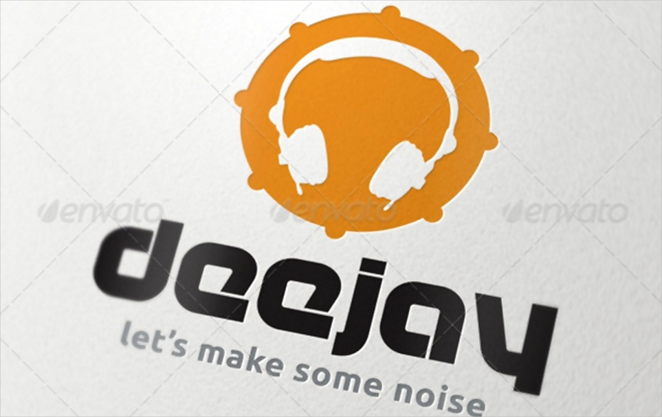 round dj logo