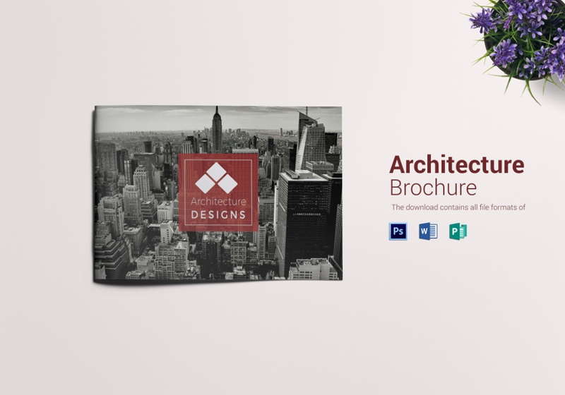 rustic architecture brochure landscape template1