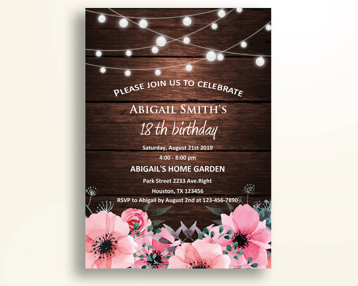 FREE 3+ Rustic Invitation Designs & Examples in Publisher  Word