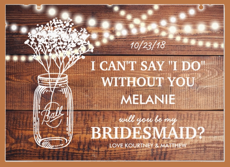 rustic bridesmaid invitation card