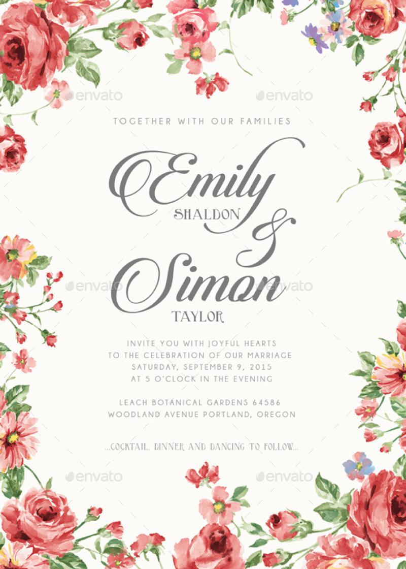 rustic classic wedding invitation