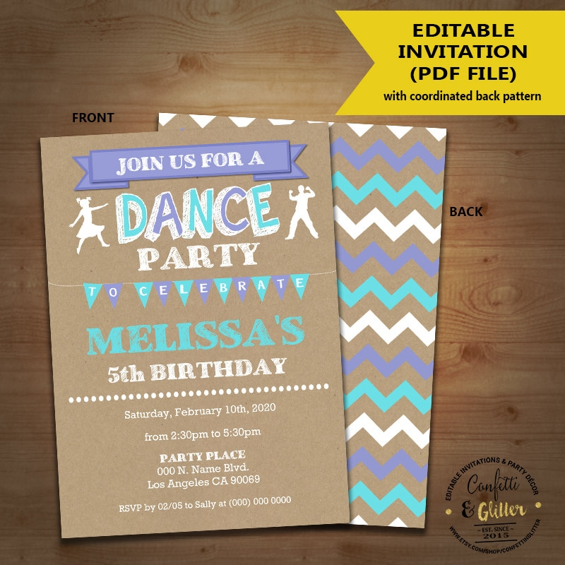 rustic dance party invitation1