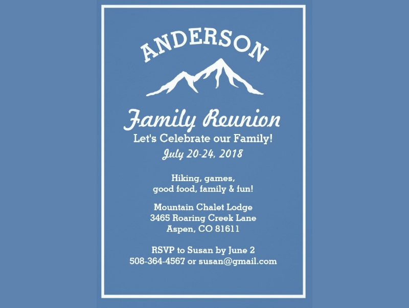 rustic family reunion trip get together card