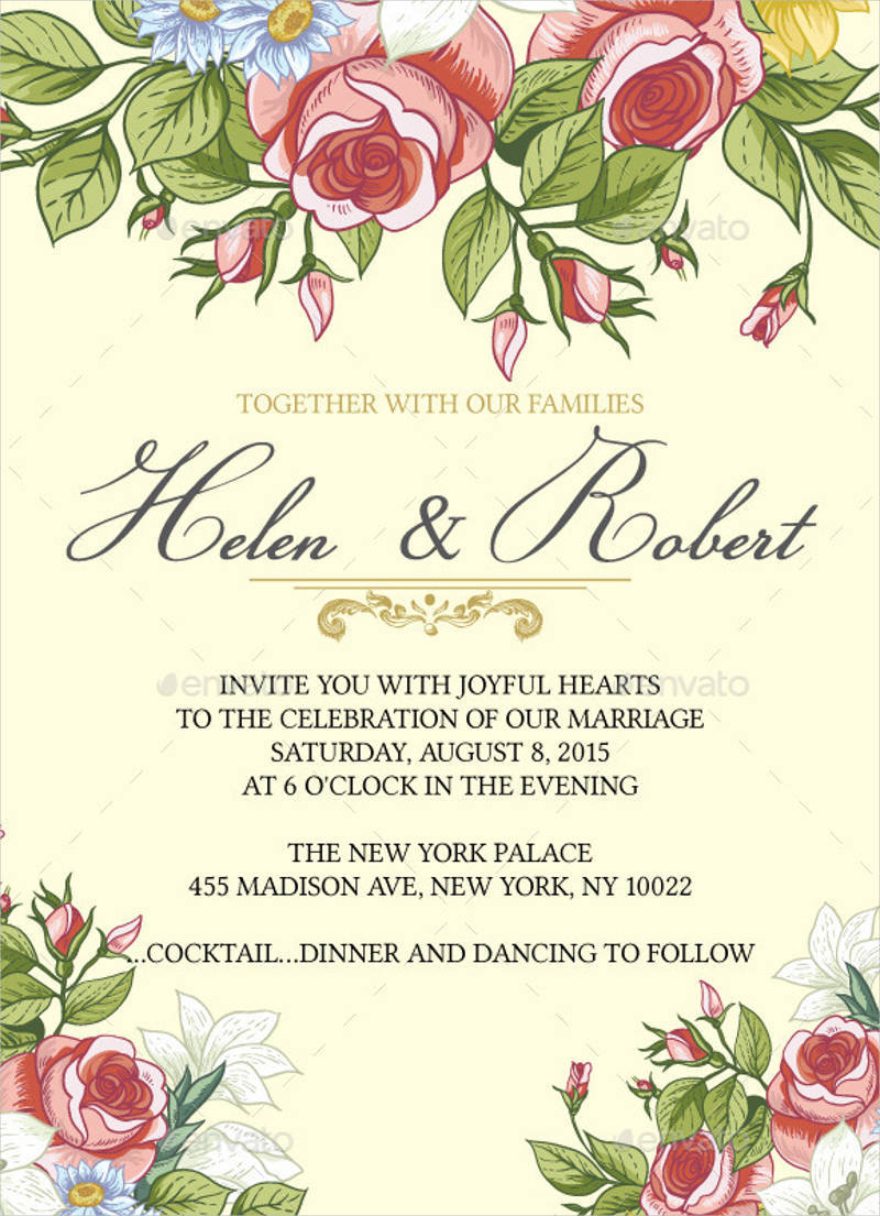 rustic floral wedding invitation1