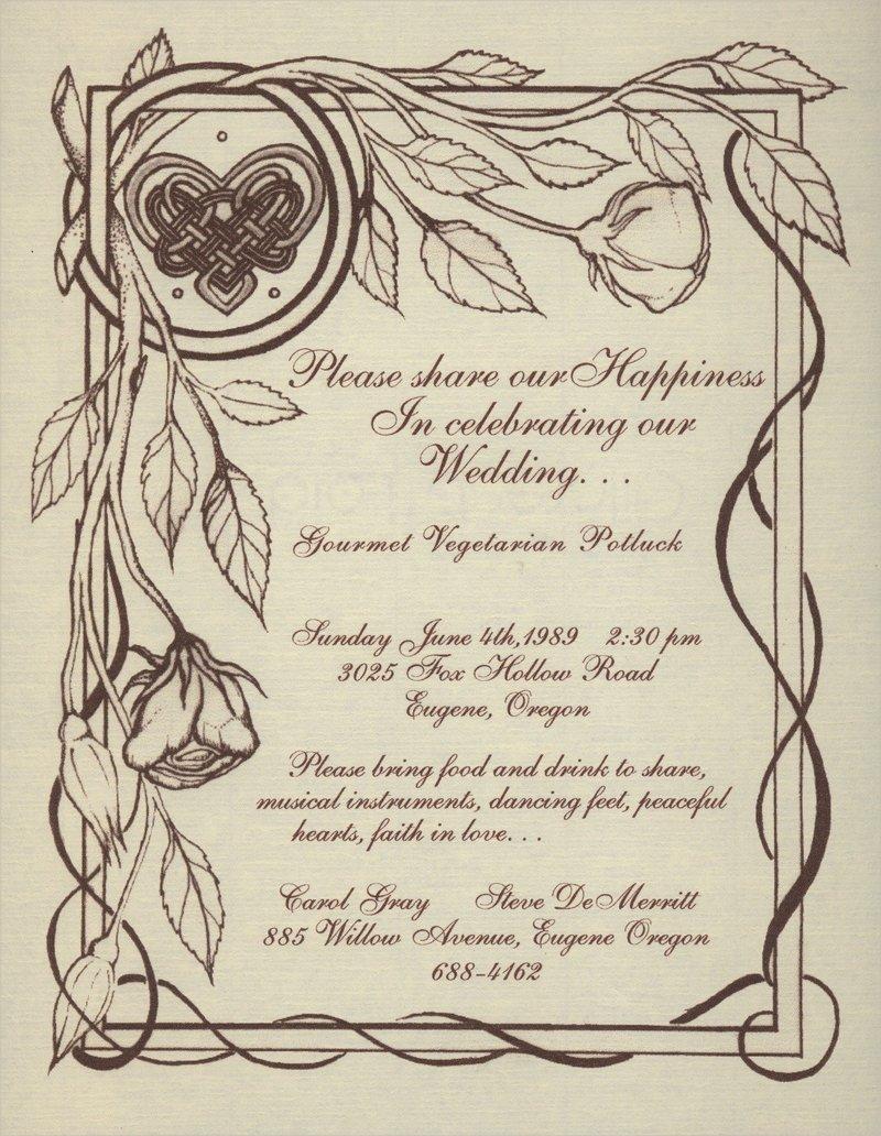 rustic free wedding invitation