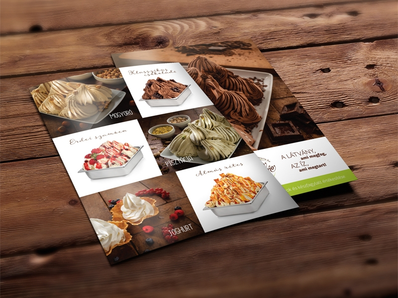 rustic ice cream brochure design