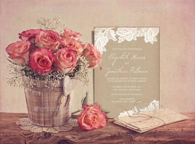 rustic invitation card template