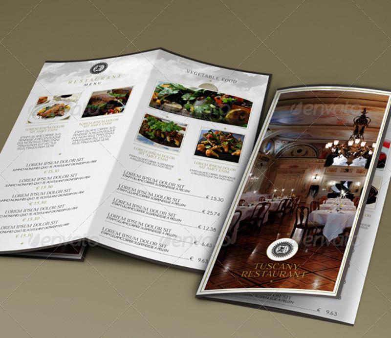 rustic restaurant trifold brochure