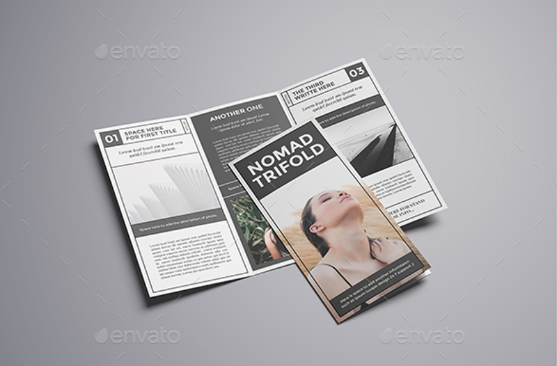 rustic style trifold brochure