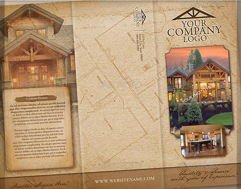rustic vintage craftsmen style brochure