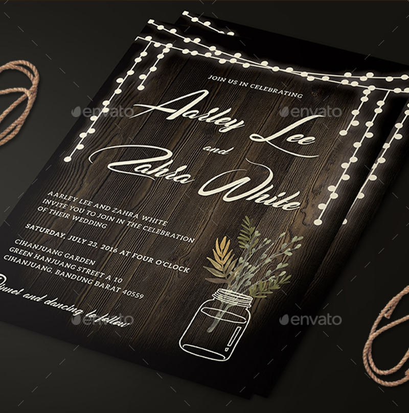 rustic wedding anniversary invitation