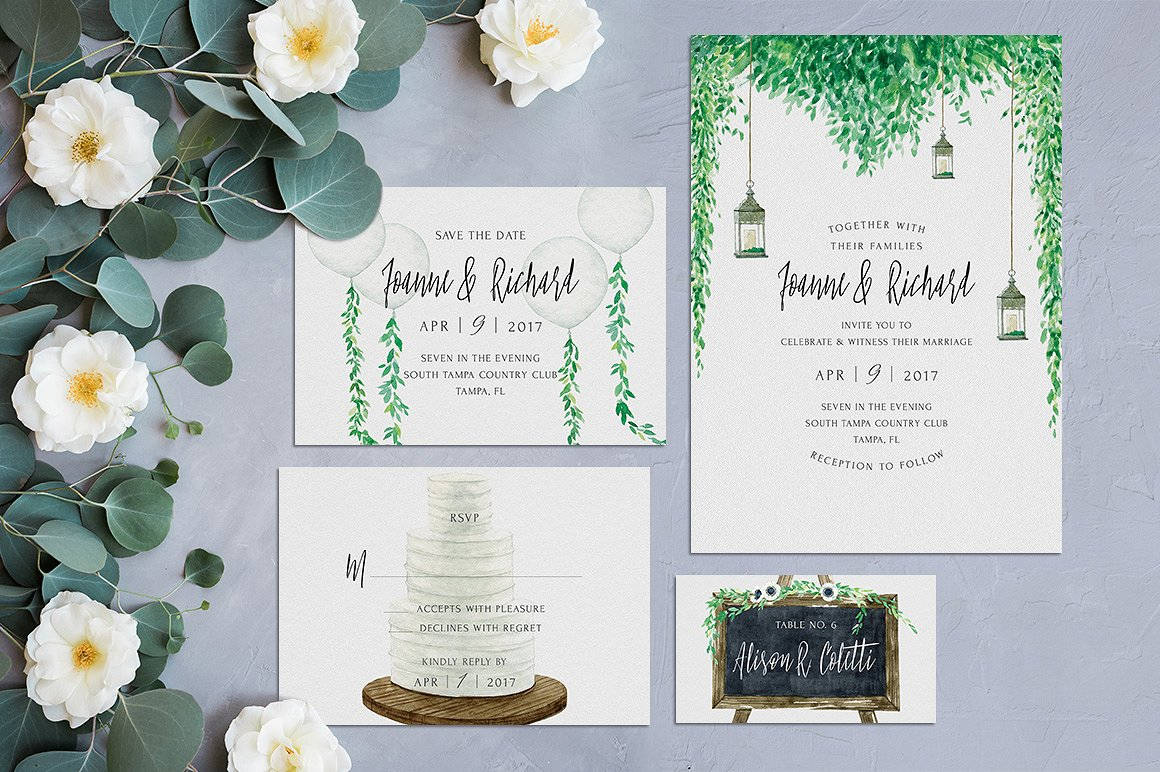 rustic wedding invitation kit